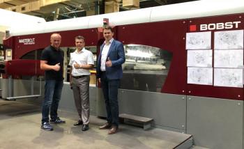 На заводе «Архбум» установлен комплекс оборудования Bobst для производства гофротары