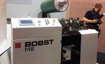 Секция новой флексомашины Bobst M8 на выставке Labelexpo Europe 2017