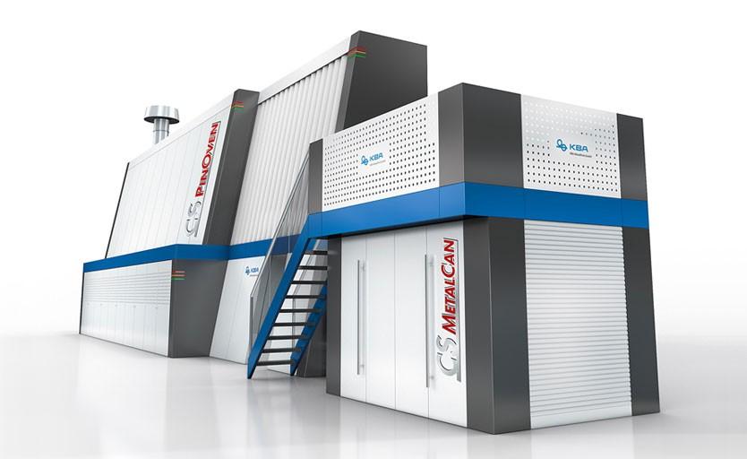 """Комплексное решение, состоящее из печатной машины CS MetalCan и """"печки"""" CS PinOven"""