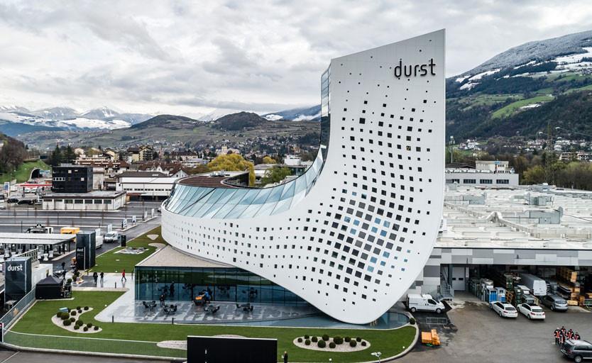 Башня новой штаб-квартиры Durst. Внутри находятся административные помещения