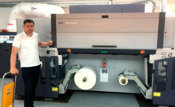 В типографии «Эталон и К» запущена струйная машина Durst для печати этикетки