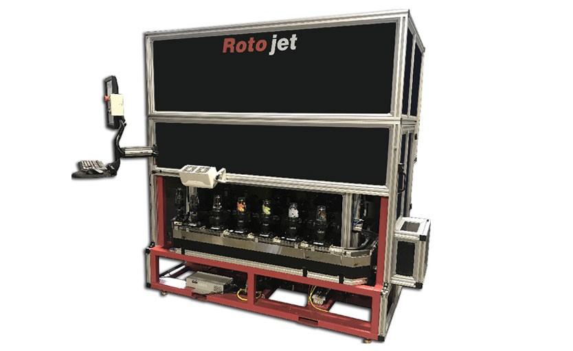 Струйная машина Roto-JET для печати на предметах  цилиндрической формы