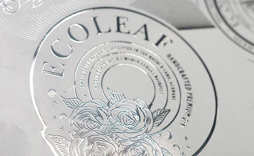 ACTEGA Metal Print разработала технологию EcoLeaf. Она позволяет делать металлизацию оттисков без фольги