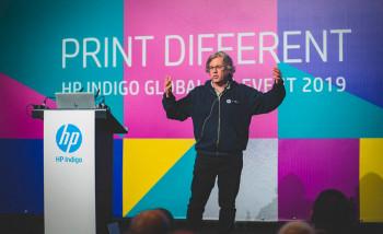 Алон Бар-Шани выступает на HP Indigo 2019 Global Customer Event