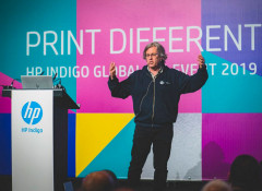 Алон Бар-Шани выступает на HP Indigo 2019 Global Customer Event