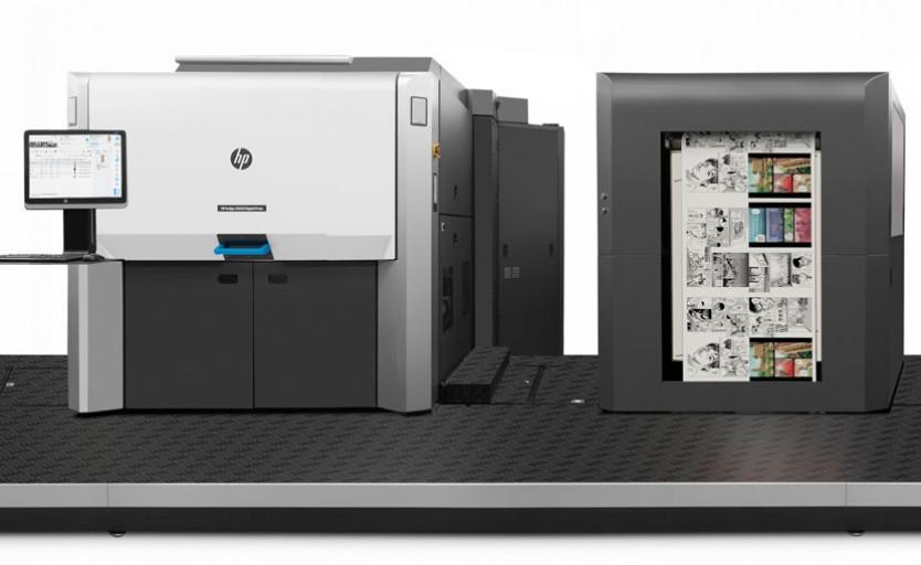 Вторая печатная секция и установленный перед ней модуль праймирования