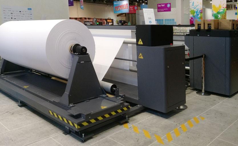HP Latex 3800 Jumbo Roll Solution на выставке Fespa Global Print Expo 2018