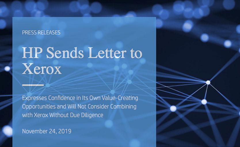 HP ответила на угрозу недружественного поглощения со стороны Xerox