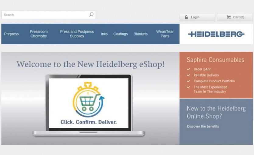 Новый электронный магазин Heidelberg eShop — удобная платформа для приобретения через Интернет. Уже сегодня во многих регионах можно заказывать расходные материалы, в будущем можно будет заказывать запасные части