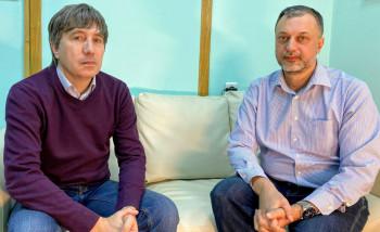Коммерческий директор компании «Интермикро» Дмитрий Леонтьев и ее генеральный директор Михаил Нестеренко