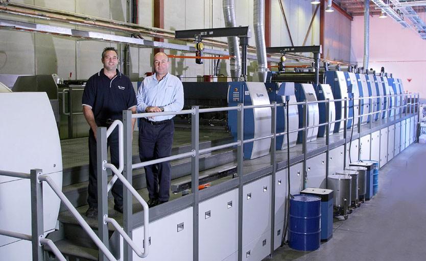 Листовая офсетная машина большого формата Rapida 142 с 13 печатными и отделочными секциями в австралийской типографии Anzpac