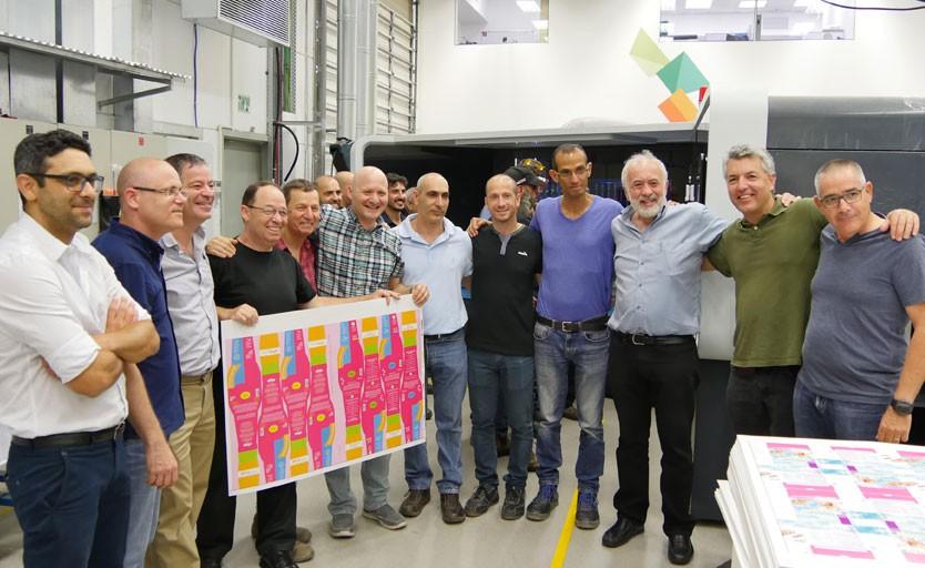Последний тестовый тираж и фото на память на производстве Landa перед отгрузкой машины клиенту