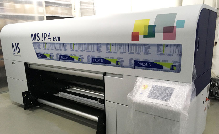Широкоформатный струйный принтер для печати по текстилю JP4 Evo производства итальянской компании MS Printing Solutions
