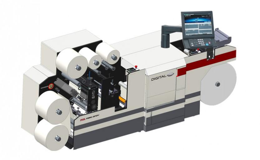 Гибридная печатная машина Mark Andy Digital One для выпуска этикетки