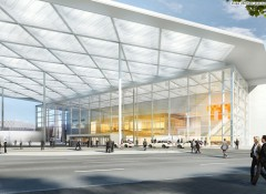 Так будет выглядеть южный вход Messe Düsseldorf после реконструкции