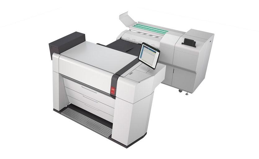 Инженерный принтер Océ ColorWave 9000 c фальцевальной системой Océ Professional 6011/6013.