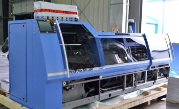 """Разгрузка ниткошвейной машины Muller Martini Ventura MC 200 на производстве """"Парето-Принт"""" (Тверь)"""