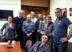 Представление нового руководителя совету директоров. Юрий Лифанов – второй слева. Фото с его страницы в Facebook