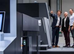 Слева направо: генеральный директор Rondo AG Йоахим Хольц; представитель Heidelberg Switzerland Филипп Андрей и директор по производству Rondo в Швейцарии Джованни Де Лука