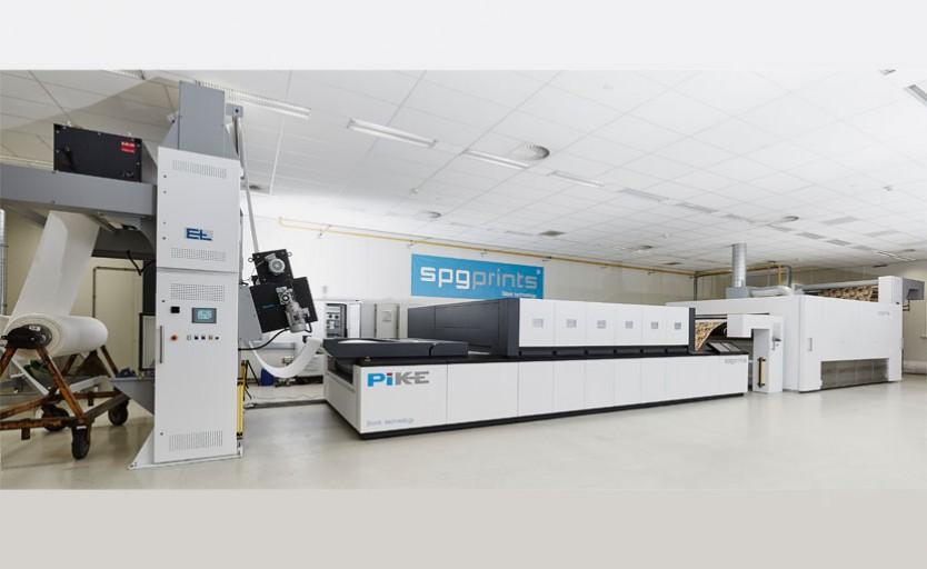 Текстильный принтер SPGPrints Pike с устройством размотки текстиля и сушкой