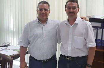 "Владелец Fidia Джузеппе Панепинто (слева) и Марсель Шарифуллин, ""Терра Системы"""