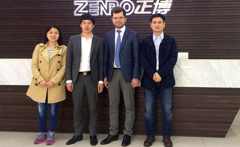 Стефан Валуйский и руководители компании Wenzhou Zenbo Printing Machinery