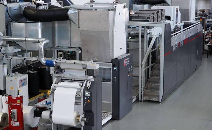 Промышленная струйная машина Kodak Sapphire EVO, предназначенная для печати гибкой упаковки