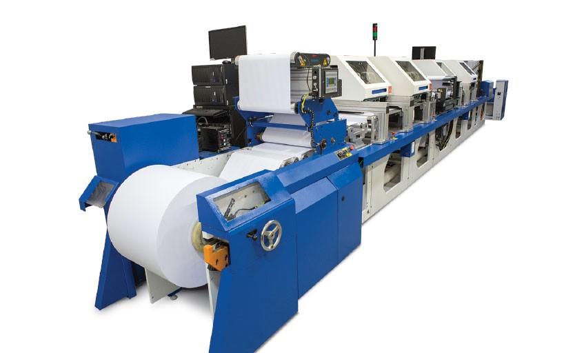 Рулонная стройная машина WEBjet 200D, произведенная компанией Super Web