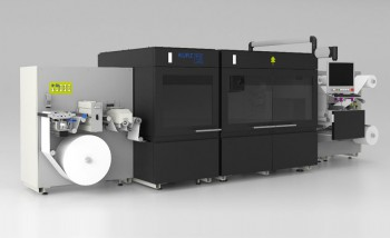 Струйная машина mlabel Gen3 UV с интегрированной станцией холодного тиснения фольгой