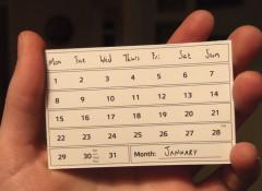 Календарь с сюрпризом