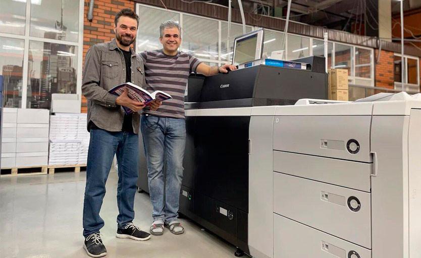 Генеральный директор типографии OneBook.ru Артем Сорокин и технический директор — Илья Кунахович