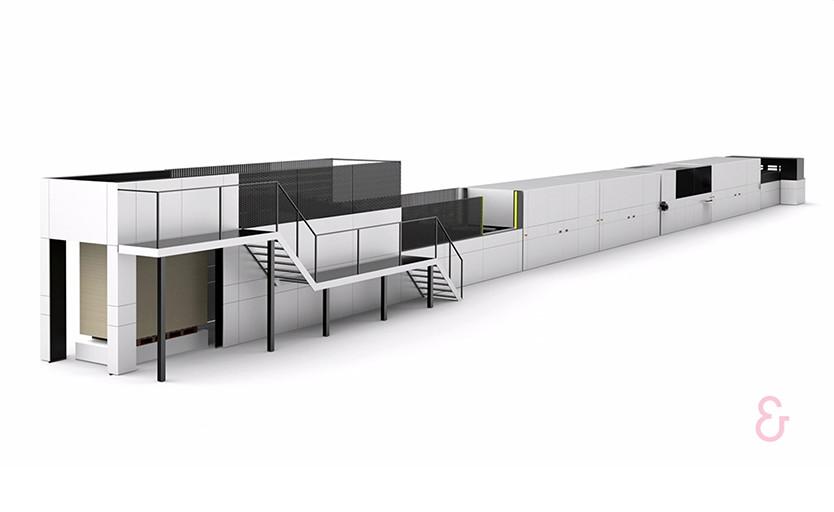 Струйная машина Delta SPC 130 для прямой однопроходной печати по гофрокартону