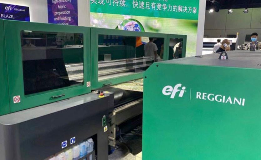 Текстильный принтер BLAZE на стенде EFI Reggiani  на выставке ITMA Asia