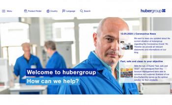 Первый экран главной страницы нового сайта hubergroup