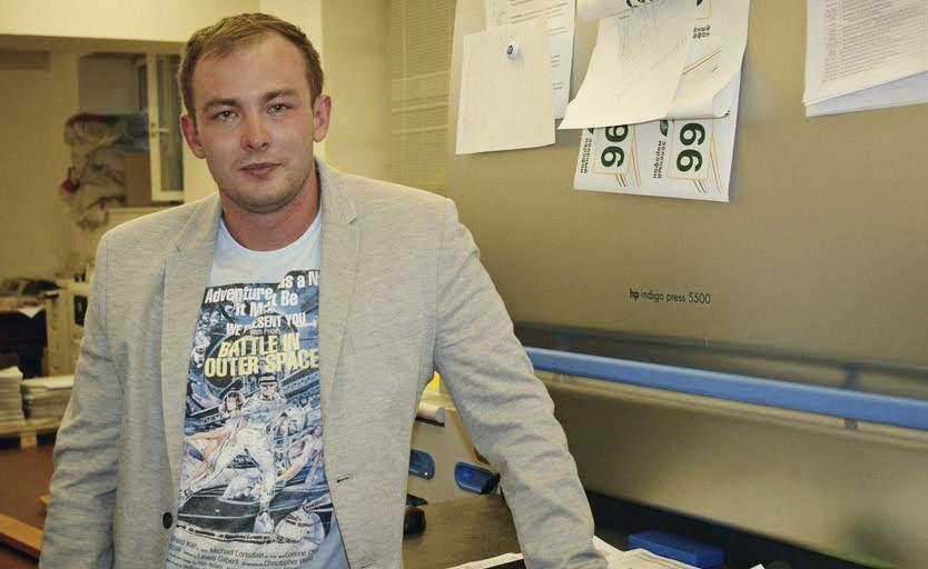 Виталий Исаков возле HP Indigo R5500