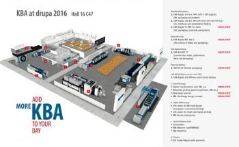 Схема стенда КВА на выставке drupa 2016