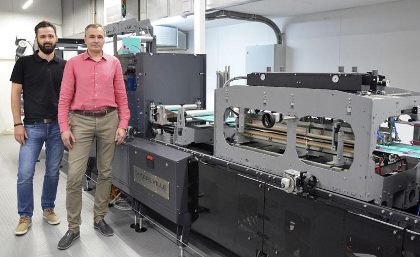 Директор по производству azimutprint Антон Мороз и главный технолог типографии Илья Кошелев