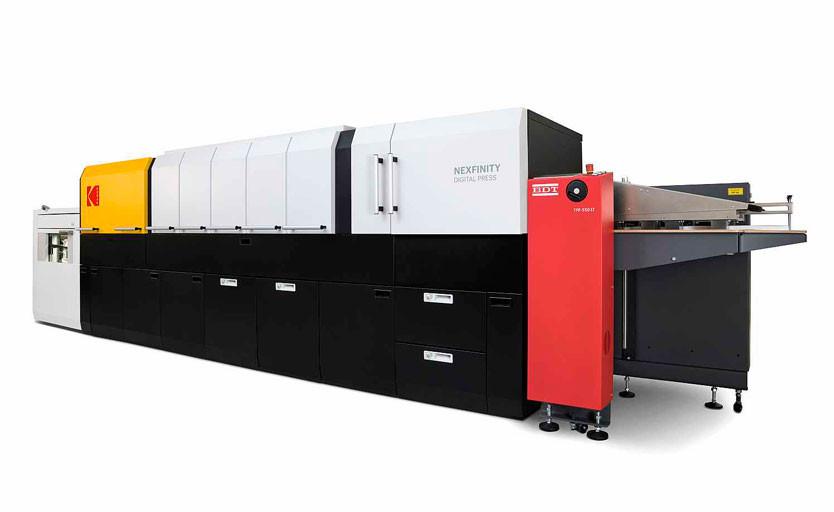 Kodak Nexfinity Digital Press c дополнительными до- и послепечатными модулями
