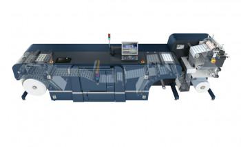 Изображение рулонной этикеточной ЦПМ Konica Minolta AccurioLabel с установленной флексосекцией GM (справа)