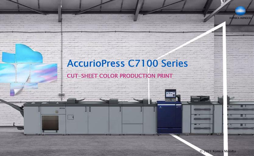 Konica Minolta выпускает на рынок новую серию цифровых печатных машин AccurioPress C7100 Series
