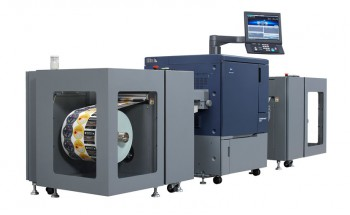 Цифровая печатная машина Konica Minolta bizhub PRESS C71cf, предназначенная для выпуска этикетки