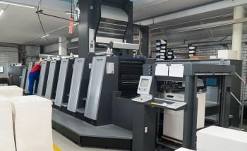 Офсетная печатная машина с УФ-технологией и секцией холодного тиснения фольгой запущена в типографии «Кварц»