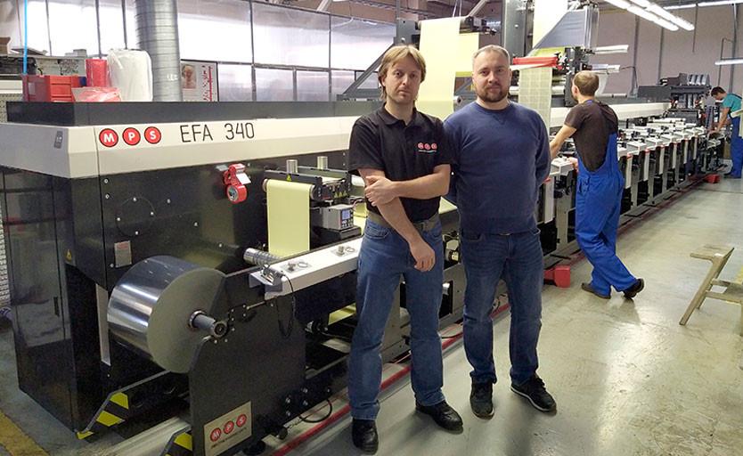 Александр Анфимов, исполнительный директор типографии «МДМ-Флекс» и Егор Чирков, специалист компании «Огард»