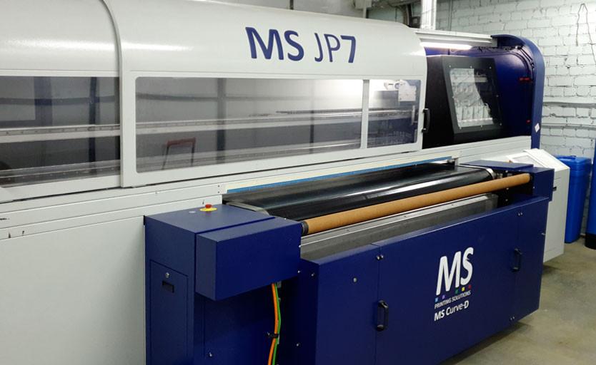 В компании MART установлен комплекс оборудования для печати по натуральной ткани на базе струйного принтера MS
