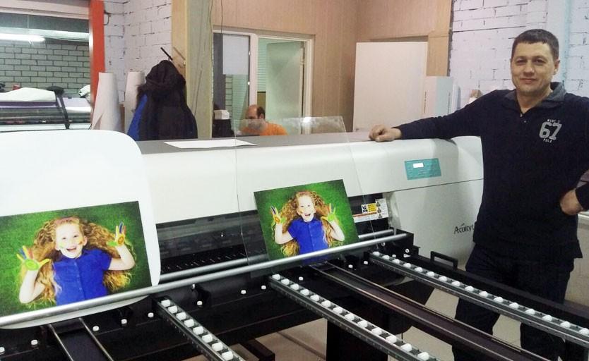 УФ-принтер Fujifilm Acuity 1600 LED запущен в Воронеже