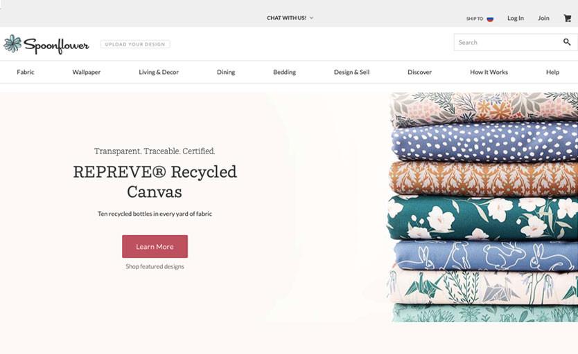 Shutterfly покупает Spoonflower — онлайн-платформу, где заказывают обои, интерьерный декор и другой текстиль с кастомными принтами