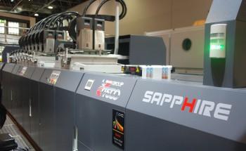 Струйная машина Uteco Sapphire для печати гибкой упаковки и этикетки (со стороны намотки)