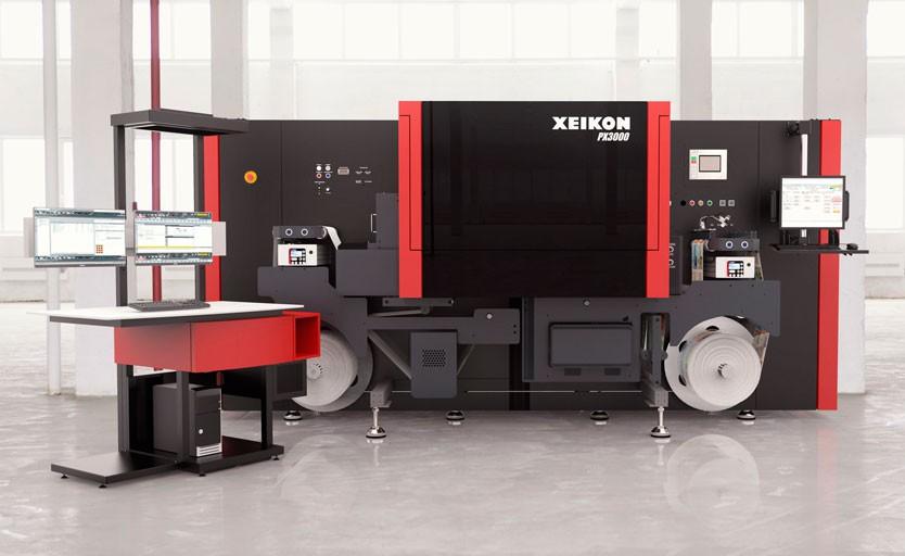 Струйная УФ-машина Xeikon PX3000